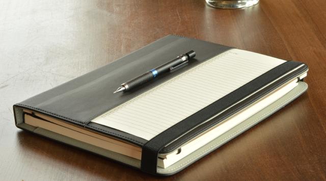 The Design Folio shown in matte black, also comes in soft white
