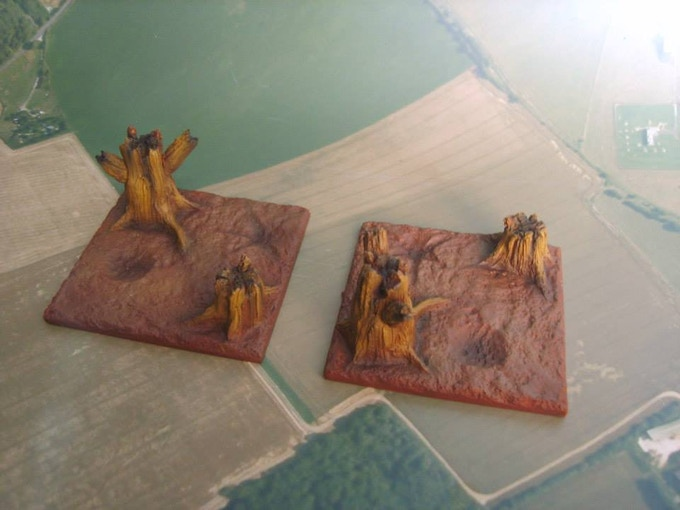 Shattered trees (supplied unpainted)
