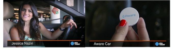 AwareCar Featured on USA Today