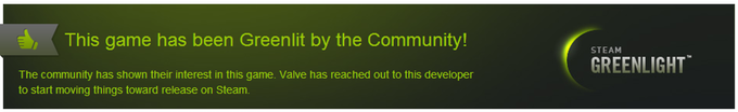 We are proud to say that on July 1st, 2015, Antinomy has been Greenlit by community! Thank you!
