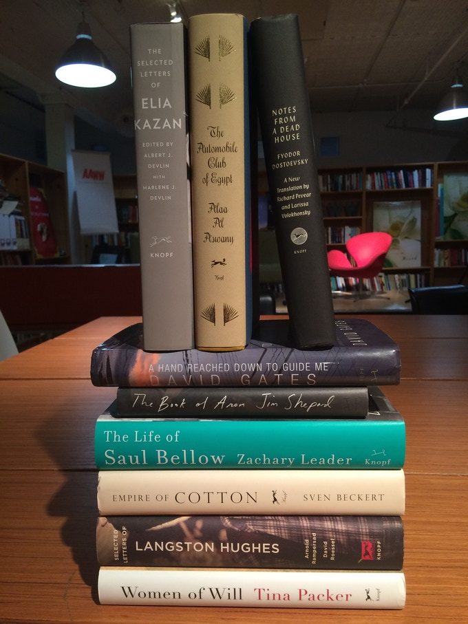For $200: This incredible selection from Knopf, AND the 2015 Guernica Annual.