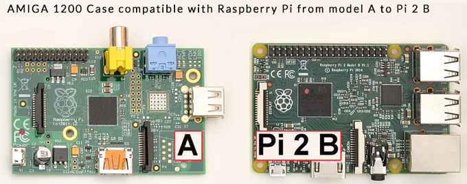 The A1200 case is compatible with Pi's with 2 to 4 mounting holes.