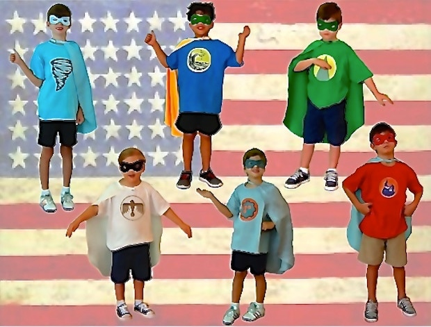 Our Heroes with Capes & Masks