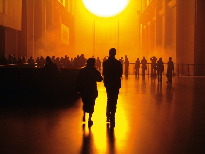 Olafur's iconic work 'The weather project' for the Tate Modern 2003