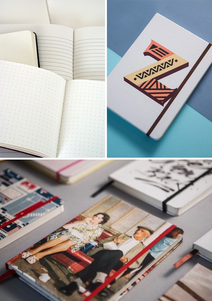 Choose your paper, ribbon and elastic to complement your artworks