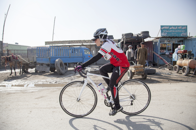 Afghan Cycles: A feature documentary about a new generation of young Afghan women challenging gender and cultural barriers using the bicycle as a vehicle for freedom and social change. Photo: Afghan Cycles/Jenny Nichols