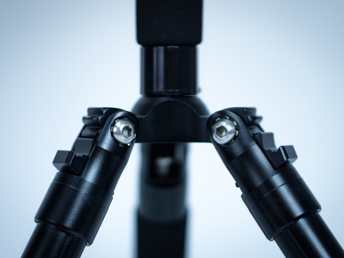 Durable, adjustable legs of the mini tripod stand included with all pledge levels.
