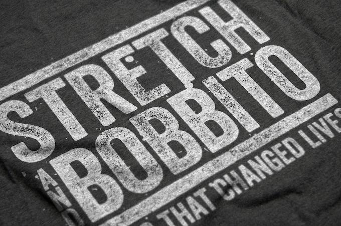 STRETCH AND BOBBITO original 2-of-2 logo sample t-shirt