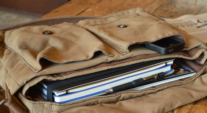 The Design Folio protects your creative work when going places.