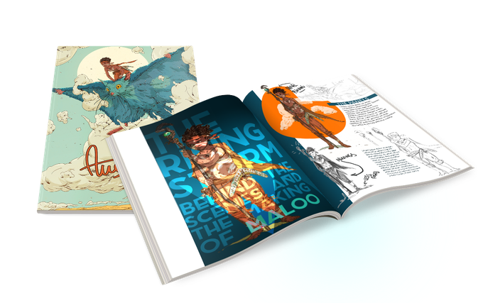 45+ pages of story + 30 pages of art/process HARD COVER