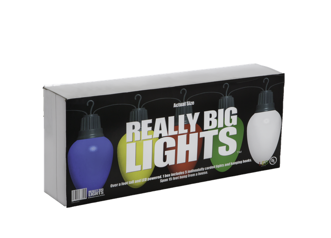 "Really Big Lights require Really Big packaging. Each box is 36"" long and 15 inches high. We've designed the box to be burly and good for years of garage storage!"
