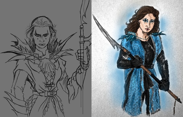Maralictor Concept Sketch and Art