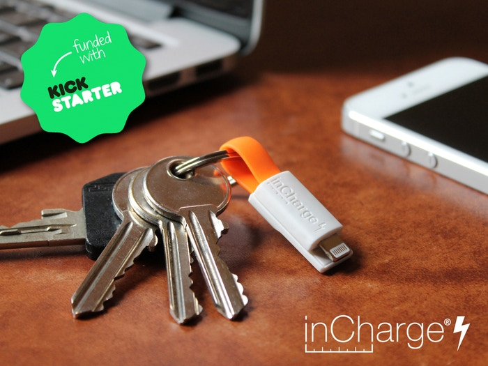 inCharge Bolt, the smallest keyring cable in the world.
