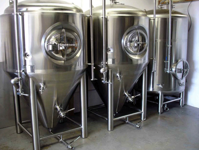 Tanks planned for use in the brewery