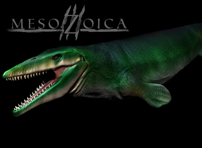 Mosasaur (with optional green skin)