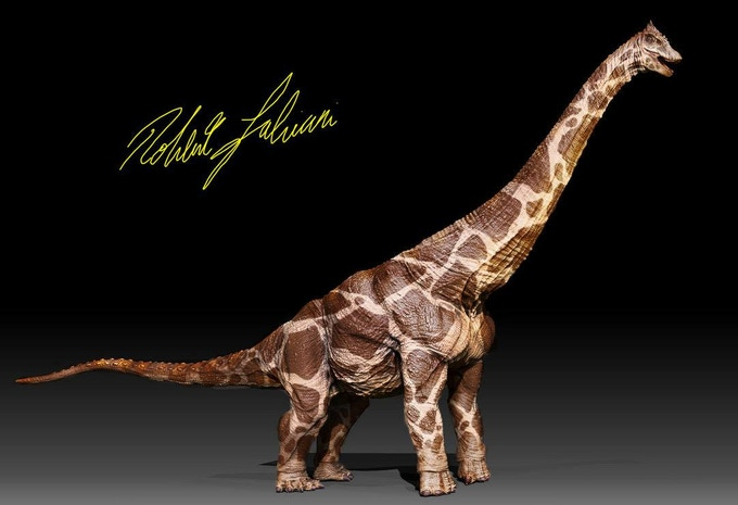 Fan skinned alamosaurus