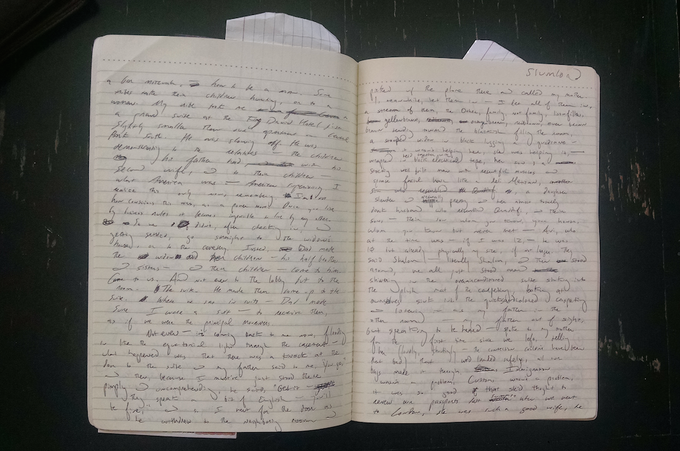 For £200 – a handwritten, signed manuscript page of Joshua Cohen's 'Book of Numbers' described by the NY Times as 'more impressive than all but a few novels published this decade'