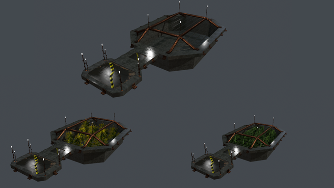 hatchery model based off of the concept art