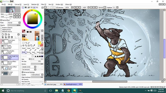 Working on the colors...
