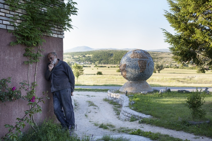 Sculptor, Livno, Bosnia and Herzegovina, June 2011