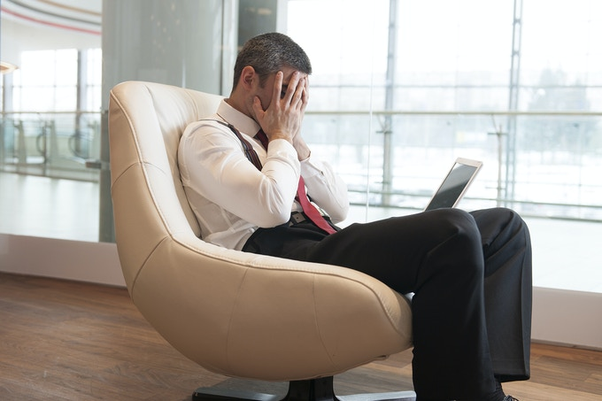 Title: Stressed out businessman