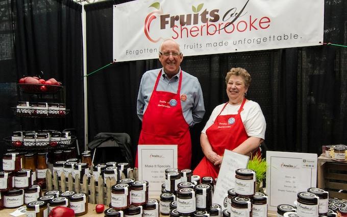 Al and Edna at the farmer's market.