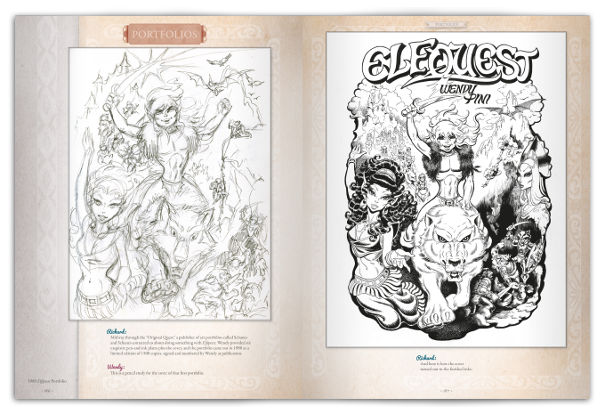 Sample spread from The Art of Elfquest