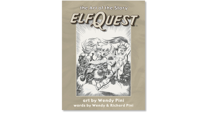 """Elfquest: The Art of the Story"" trade edition cover"