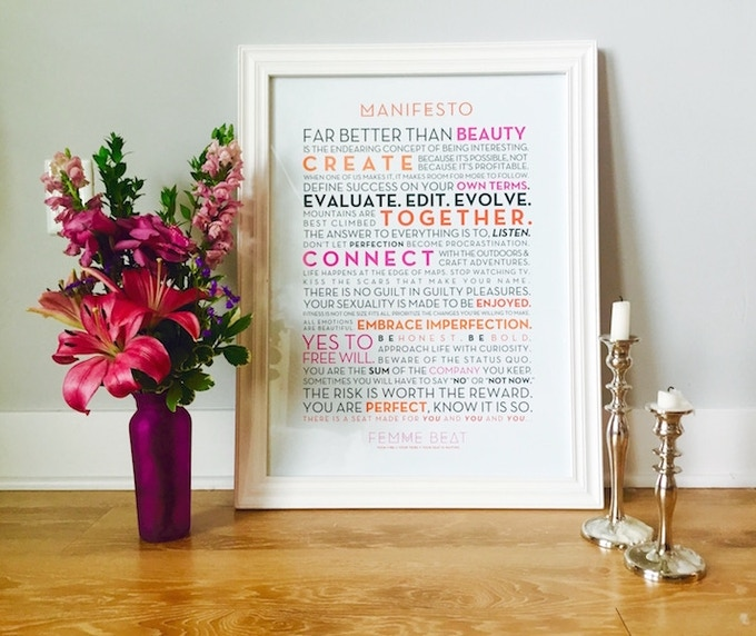 """For $50, a Manifesto Poster + Handwritten """"Thank You"""" Card"""