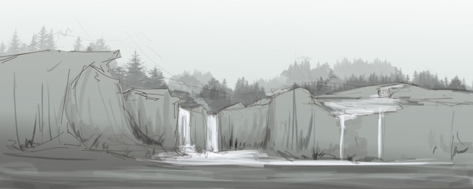An early sketch of a Spring level