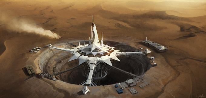 Concept art: liberate the De Beers Group's reopened diamond mine in Kolmanskop, Namibia.
