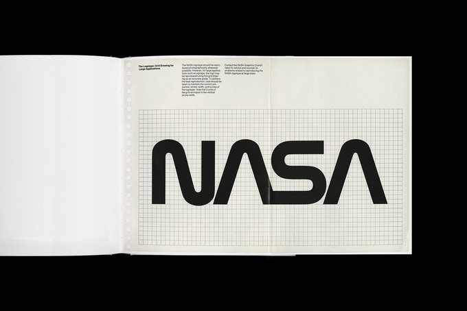 Rendering of gatefold 1.7, The Logotype: Grid Drawing for Large Applications.