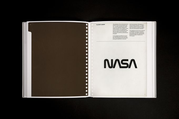 Rendering of page 1.1, The NASA Logotype.