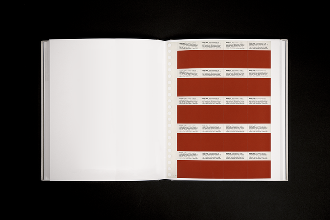 Rendering of page 2.14, NASA Red: Color Swatches.