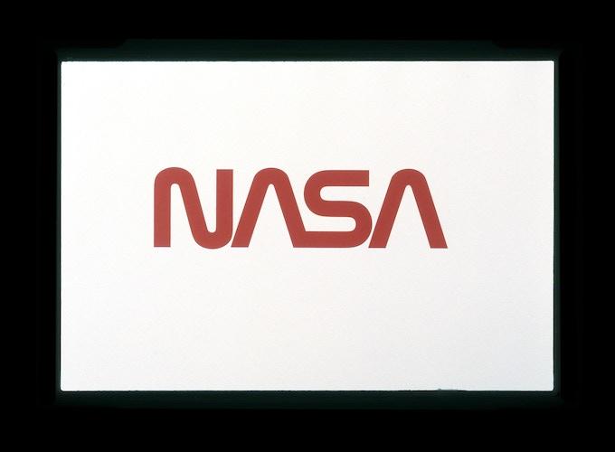 Original presentation to NASA by Danne & Blackburn: Proposed logo in Nasa Red.