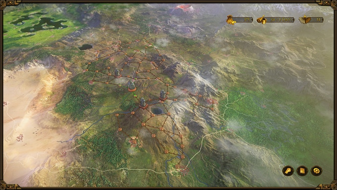 """A section of """"Girdlegard"""", the game world of """"The Dwarves"""""""