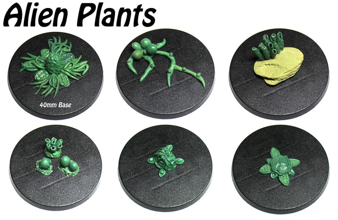 Alien plants accessory mold with 8 different pieces