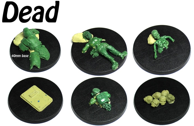 Dead accessory mold with 6 different pieces