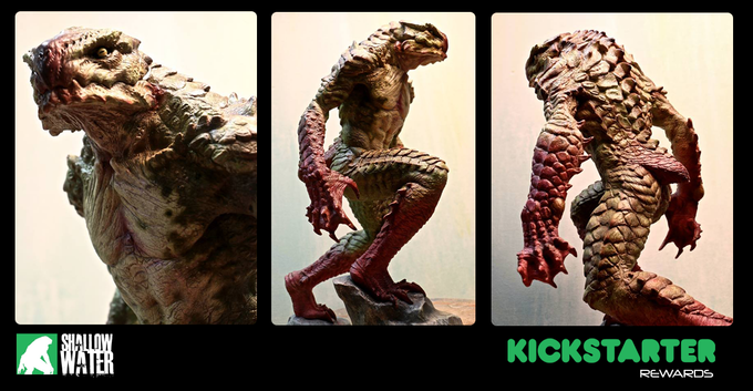 Painted, full body creature maquette!