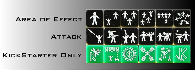 Area of effect, Attack and Kickstarter Exclusive