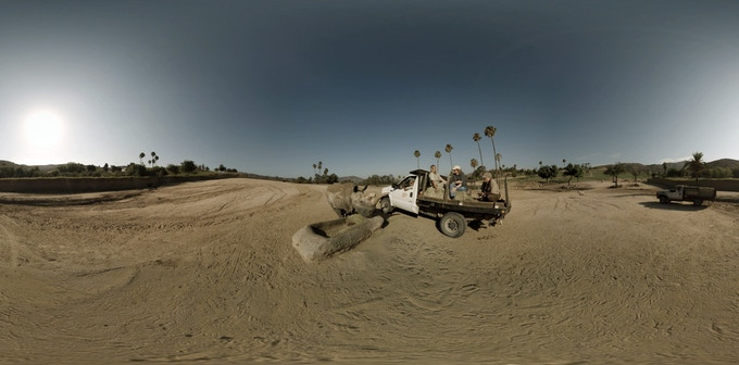 A 360° view of Nola the Northern White Rhino in San Diego