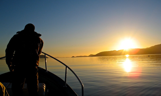 Sunrise on the Sea of Cortez - from our location scout.