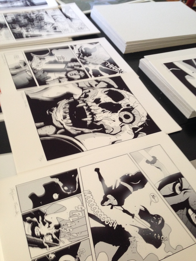 Limited edition page-prints from SILVER Vol. 1
