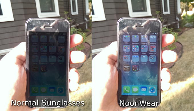 See your phone in the sun!