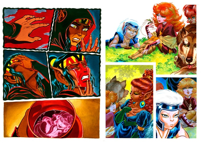 """Elfquest: The Art of the Story"" sample art"