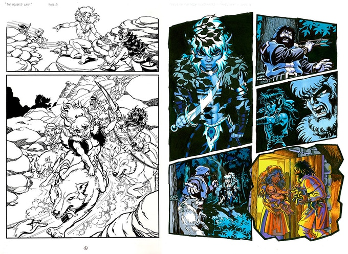 """""""Elfquest: The Art of the Story"""" sample art"""