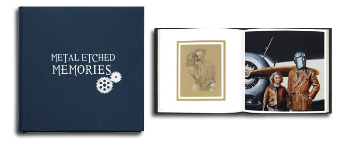 METAL ETCHED MEMORIES Art Book - Mockup