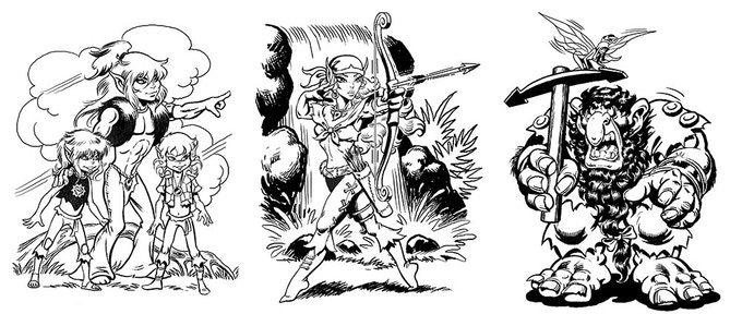 Art of Elfquest & Line of Beauty by Wendy and Richard Pini