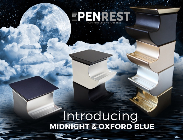 The Pen Rest - Uniquely Stackable - Start tidying your desk now with The Pen Rest. Now available in Midnight Blue - Now available at www.ThePenRest.co.uk