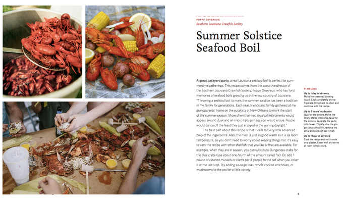 Each recipe includes the story behind the gathering with a timeline and make-ahead tips.